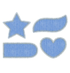 Set of denim patches vector