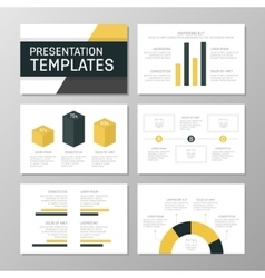 Set of gray and yellow template for multipurpose vector