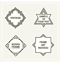 Set of retro vintage badges frames labels vector