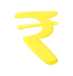 Sign rupee icon cartoon style vector