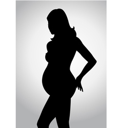 Silhouette of a pregnant woman vector image