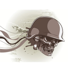 Skull with abstract background vector