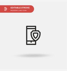 smartphone simple icon symbol vector image