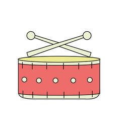 snare drum musical instrument to play music vector image