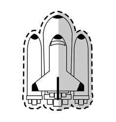 space shuttle icon image vector image