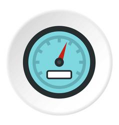 speedometer icon circle vector image