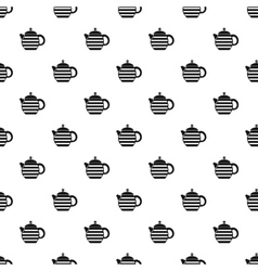 Teapot pattern simple style vector