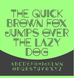the quick brown fox jumps over the lazy dog vector image