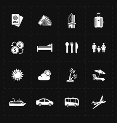 Travel company icons vector