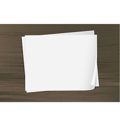 Two empty sheets of bondpapers vector image