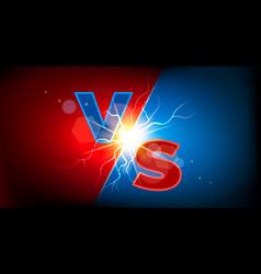 versus thanderstom sign vector image