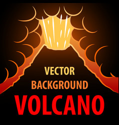 Volcano background the eruption of the volcano in vector