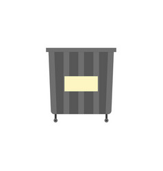 waste can of garbage types container bin vector image