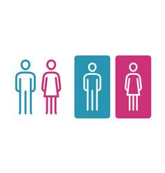 Wc sign icon toilet restroom washroom symbol vector