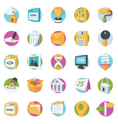 Web design and development icons vector