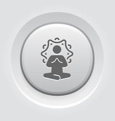 yoga meditation icon flat design isolated vector image