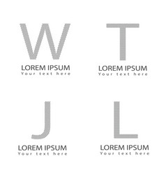 abstract letter alphabet logotype symbol icons set vector image vector image