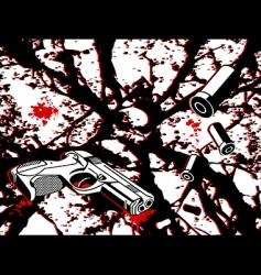 crime city vector image