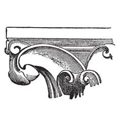 crocket intervals vintage engraving vector image vector image