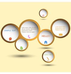 Stylish web design bubble vector image vector image