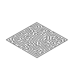 Black square labyrinth in isometric view on white vector image