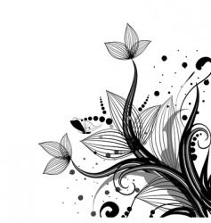 flower corner vector image vector image