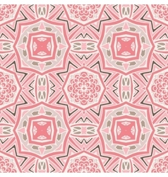 pink Seamless abstract tiled pattern vector image vector image