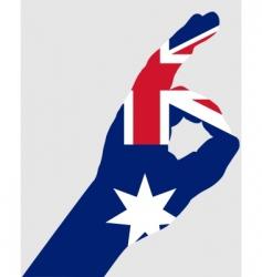 Australian hand signals vector image