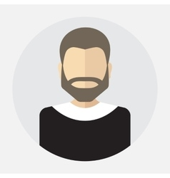 Male face avatar logo template pictogram vector