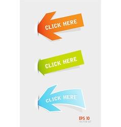 Set of colorful arrows vector image vector image