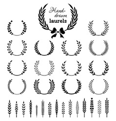Set of wreaths and branches vector image