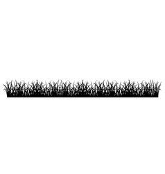 Simple Grass Silhouette vector image