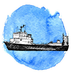 sketch of ship vector image vector image