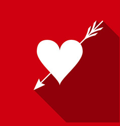 amour symbol with heart and arrow icon love sign vector image vector image