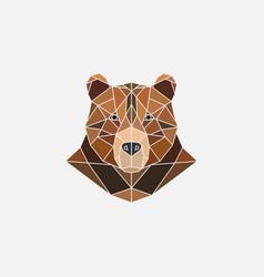 brown bear portrait abstract polygonal design vector image vector image