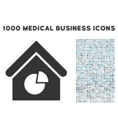 Realty Pie Chart Icon with 1000 Medical Business vector image
