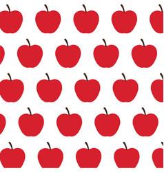 red apple fruit harvest fresh seamless pattern vector image