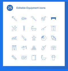 25 equipment icons vector
