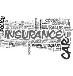A better view on car insurance text word cloud vector
