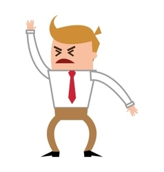 Angry businessman yelling icon vector