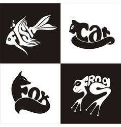 animals logo 2 vector image