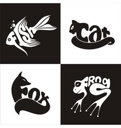 Animals logo 2 vector