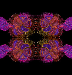 artistic psychedelic trippy colorful mirror vector image