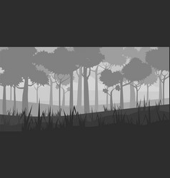 Background landscape with deep deciduous forest vector