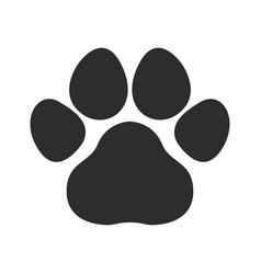 black cat and dog animal paw pet footprints ic vector image