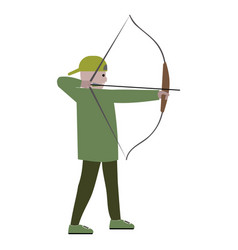 Boy with bow archer vector