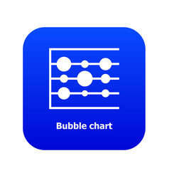 Bubble chart icon blue vector