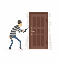 burglar - cartoon people characters vector image