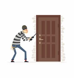 Burglar - cartoon people characters vector