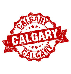 Calgary round ribbon seal vector
